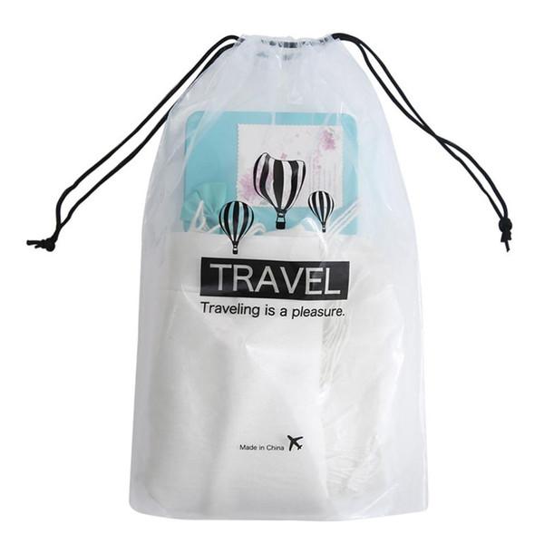 5PCS scarpe impermeabili con coulisse sacchetto trasparente Abbigliamento Contenitore di viaggio Forniture bagagli Bag Per la casa di viaggio Camping
