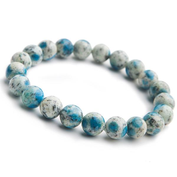 9mm Natürliche K2 Jasper Vulkan Jaspis Edelstein Armbänder Für Frauen Weibliche Stretch Kristall Runde Perlen Armbänder Drop Shipping