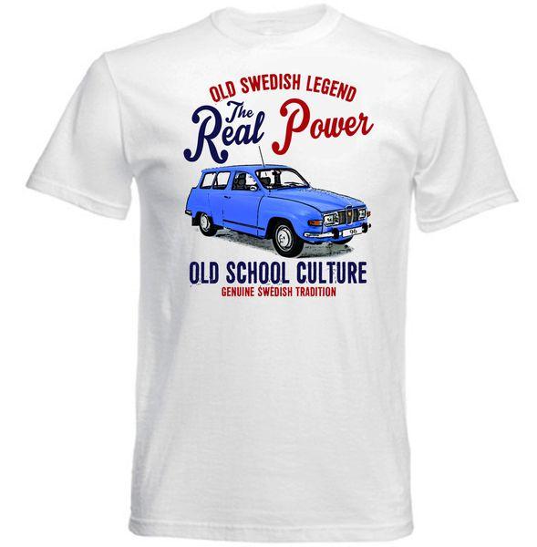 VINTAGE SWEDISH CAR SAAB 96 V4 - NUEVA CAMISETA DE ALGODÓN Trump sweat sporter fear cosplay camiseta hombre orgullo camiseta oscura