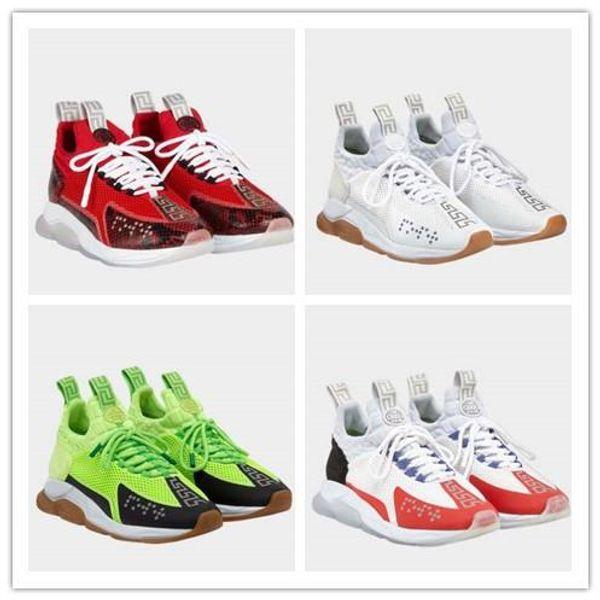 Lates style Designer Chain Reaction Hombres zapatos casuales Mujeres Deportivas Deportivas Moda Altura creciente Zapatos casuales Zapatillas de deporte 301