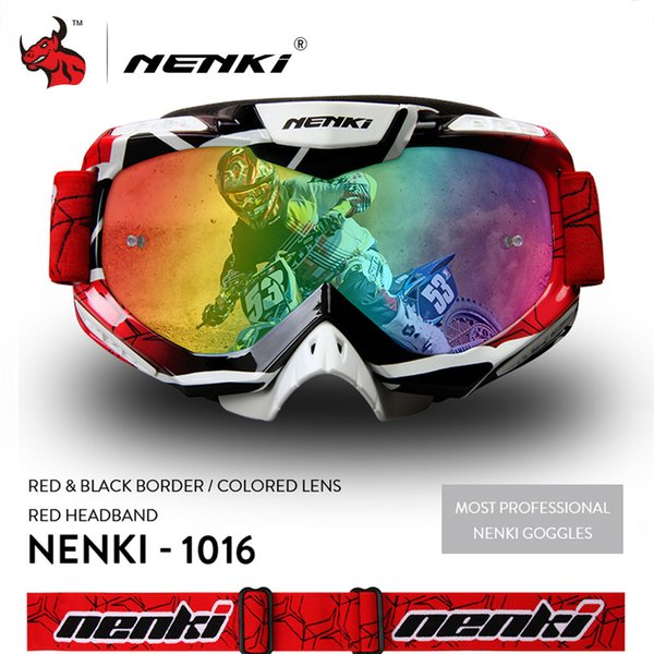 Protective Gears NENKI Motocross Glasses Moto Men Women Motorcycle Glasses Helmet Off-Road Motocross Goggles ATV MX BMX DH MTB Eyewear