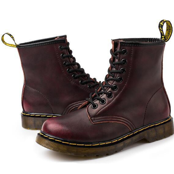34-46 big size 2019 Luxury Brand Ankle Boots Low Heel Martin Boot Motorcycle Boots brand new Genuine Leather Boots For couple Man Women