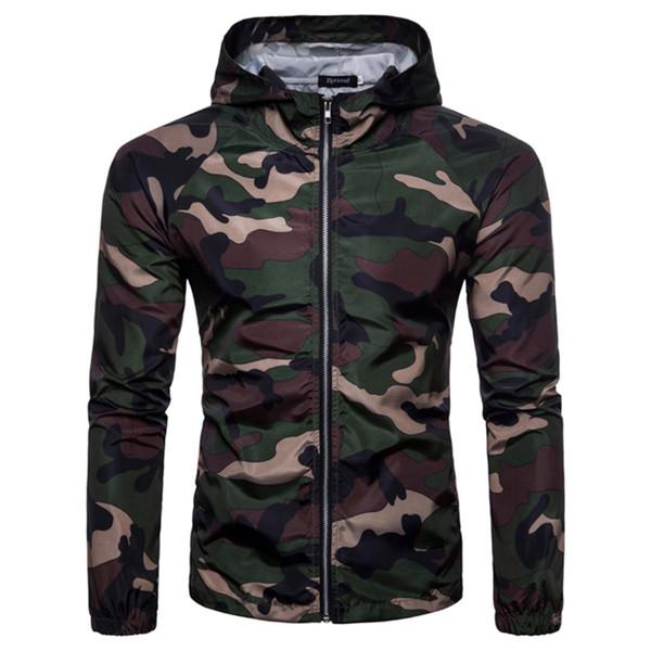 Inverno Masculino Jaqueta de Camuflagem Homens Jaquetas e Casacos Com Zíper Do Exército Para O Homem À Prova de Vento Blusão Windbreaker Outono