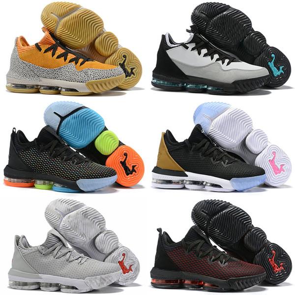 2019 New lebron 16 XVI Low x Atmos Safari Mens Scarpe da basket Camo Colonna sonora Grigio BHM Oreo Baskets Sneaker James 16s Sneakers Taglia 7-12