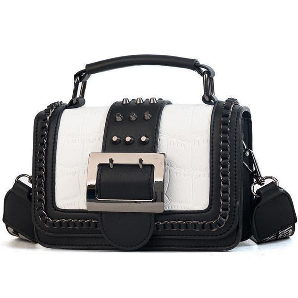 good quality New Style Ladies Flap Shape Shoulder Bag Women Rivets Crossbody Top-handle Bag For Girls Fashion Messenger Hand Phone Bag
