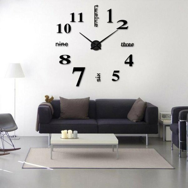 home office decor ideas.htm modern diy large wall clock 3d mirror surface sticker home office  modern diy large wall clock 3d mirror