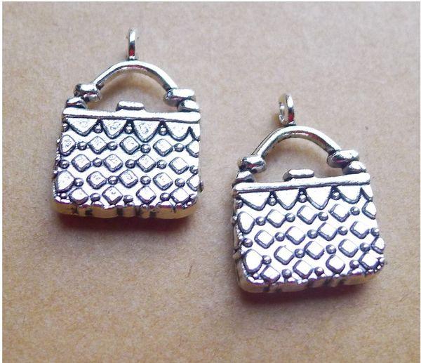 2743 14 * 18 mm vieil argent pendentif accessoires en alliage enveloppé pendentif DIY 100 / 2.3 G