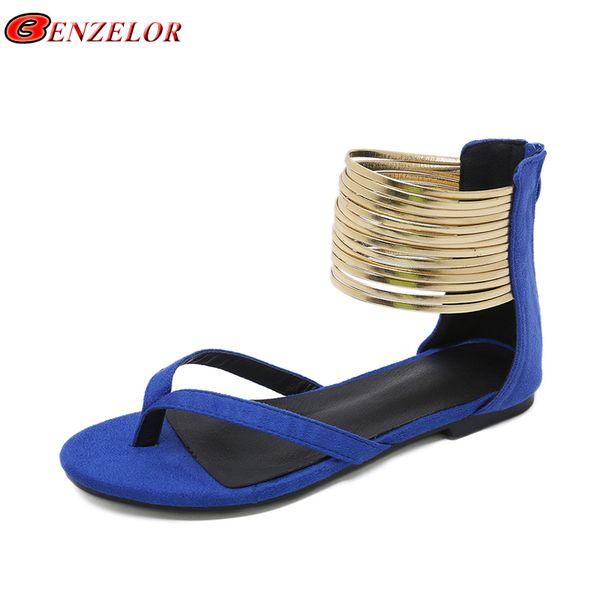 BENZELOR Brand 2019 New Summer Fashion Gladiator Sandals Ladies Classics Rome Style Toe Sandles Quality Woman Sandalias PL0418