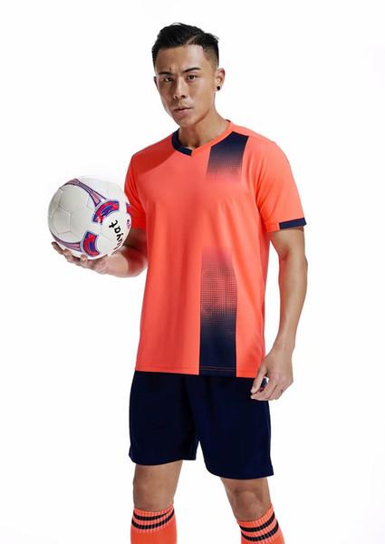 Diskont-preiswerte Männer Trainings Fußball-Sets mit Shorts Uniformen reversible Fußball-Trikots für die Heimat und wegschauen Kits Sport B08-26