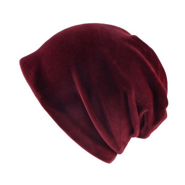 Fashion 2019 New Autumn Fashion Warm Knitted Fleece inside Slouchy Skullies Caps Winter Women Hats