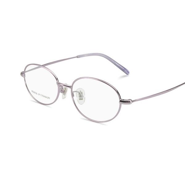 -135 ультра легкий чистый титан женщин очки рамка компьютерные очки полный обод женские очки Очки рамки очки леди