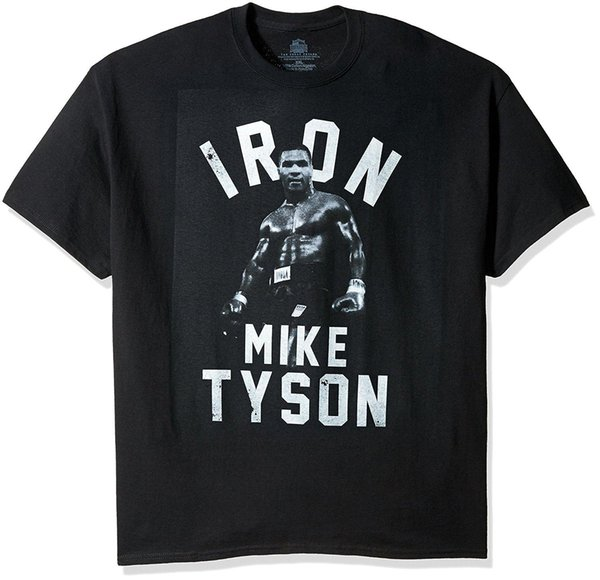 T-shirt de Mike Tyson do ferro dos homens do corredor da fama