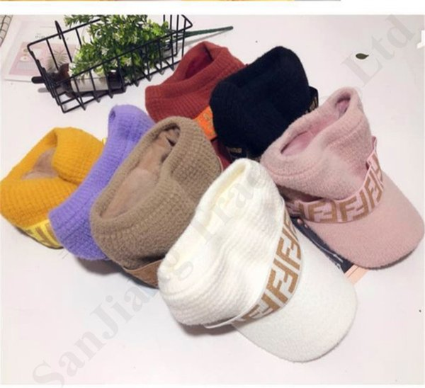 Gorras tejidas Moda Visor Cap FF Letter Brand Designer Hat Mujeres Golf Cap Travel Empty Top Sports Tennis Sunhat Girls Sun Hats News C82801