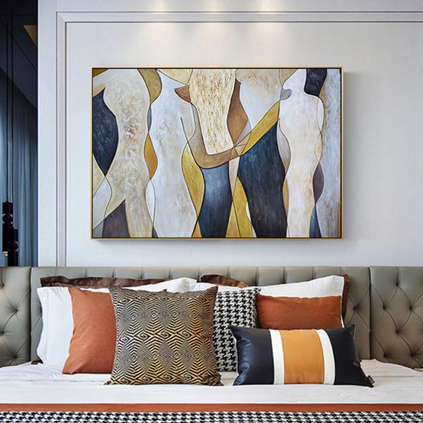 Abstrato Bonito Da Lona Brilhante Pintura de Moda Cartaz E Impressão Para Sala de estar Corredor Fundo Wall Wall Decor HD Arte Da Parede