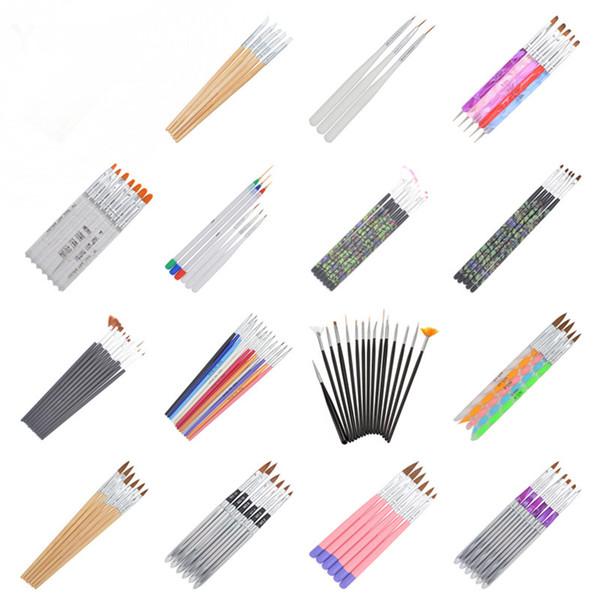 21 Различных стилей DIY Nail Art акриловой УФ-гель Дизайн Кисть рисование Pen Советы Tools Kit (X22-41)