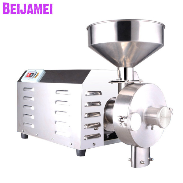 beijamei new electric dry grain pulverizer /commercial industrial flour mill grains grinder grinding machine for sale
