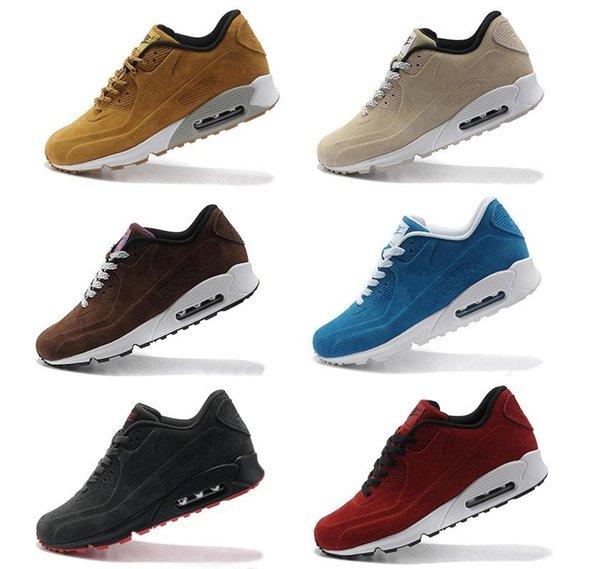 90 Suede Mens Designer Chaussures De Course Hommes Casual Air Coussin Sport Entraîneurs Superstars En Plein Air Hiver Automne Randonnée Jogging Baskets 40-45