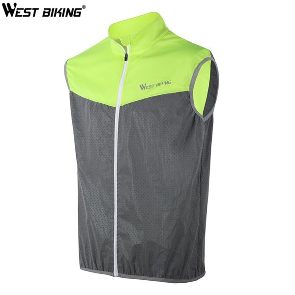 top popular WEST BIKING Reflective Vest Quick-dry Warning Safety Cycling Vest Short Sleeveless For Running Fishing Hiking Outdoor Sport 2020