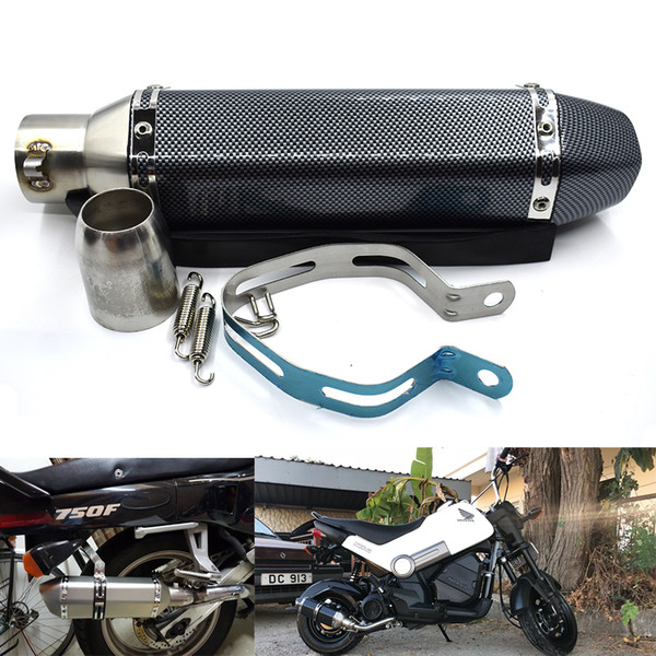 For Universal 51MM Motorcycle Exhaust Pipe Escape Sticker Racing Motorcycle Silencer 570mm For TMAX500 530 ATV 125-1000cc Sound Pleasant