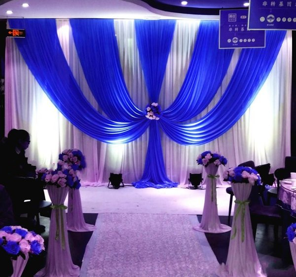 3*6m (10ft*20ft) Wedding Curtain Backdrops with dense Sequins Swag High Quality Ice Silk Material Wedding Party Stage Decoration valance