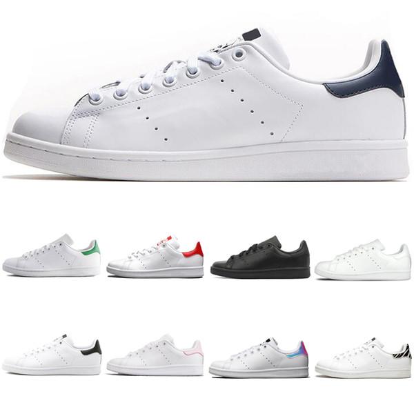 Compre Adidas 2019 Original Smith Hombres Mujer Zapatos Casuales Verde Negro Blanco Azul Rojo Rosa Plata Para Hombre Stan Zapatos De Cuero De Moda