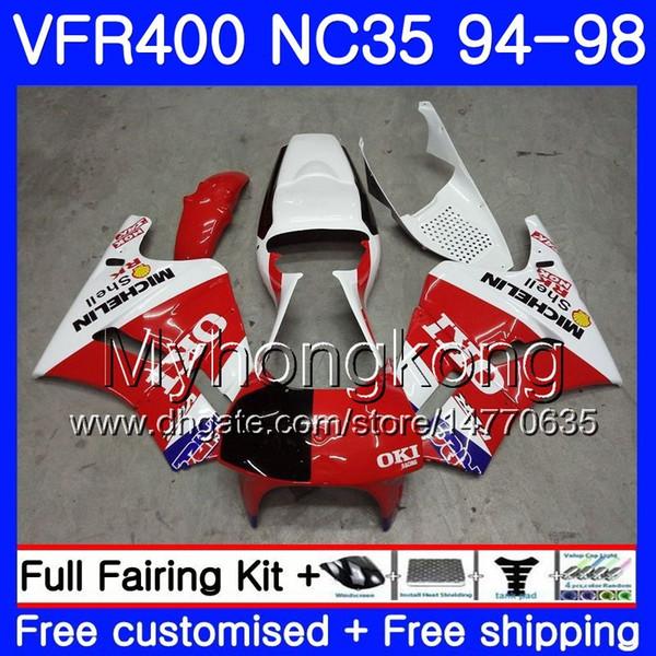 Front Fender Fairing Plastic for Honda RVF400R RVF 400R  RVF400 NC35 1994 Black