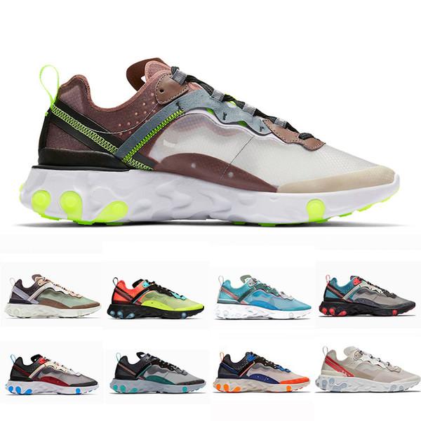 Nike React Element 87 chaussures de course pour homme femme Orange noir Royal Tint bleu Desert Sand mens designer respirant baskets sport taille 36-45