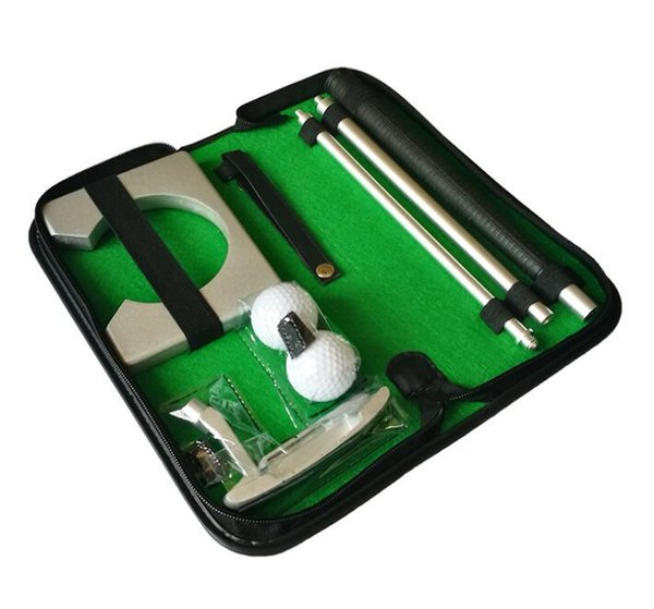 Portable Golf Putter Practice Set Travel Indoor Golfs Ball Holder Putting Training Aids Tool With Carry Case Gifts