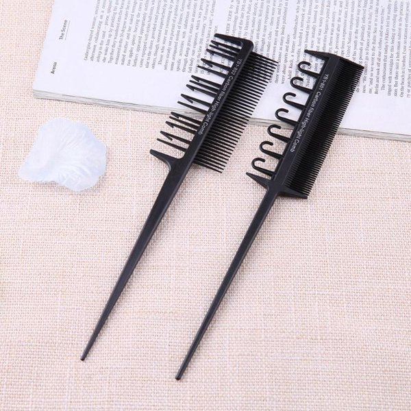 tyling Tools Combs 2 Side Hair Dyeing Comb Adjustable Sectioning Highlight Comb Weaving Cutting Brush Professional Salon Hair Coloring St...