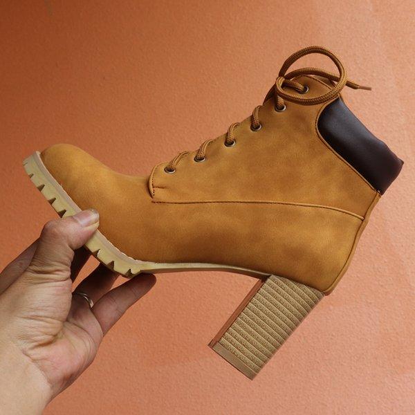 SARAIRIS Britânico Botas de Salto Alto Botas Ocidentais Mulheres Ankle Boots de Inverno Mulheres 2019 Sapatos de Corda Mulher Tamanho Grande 43