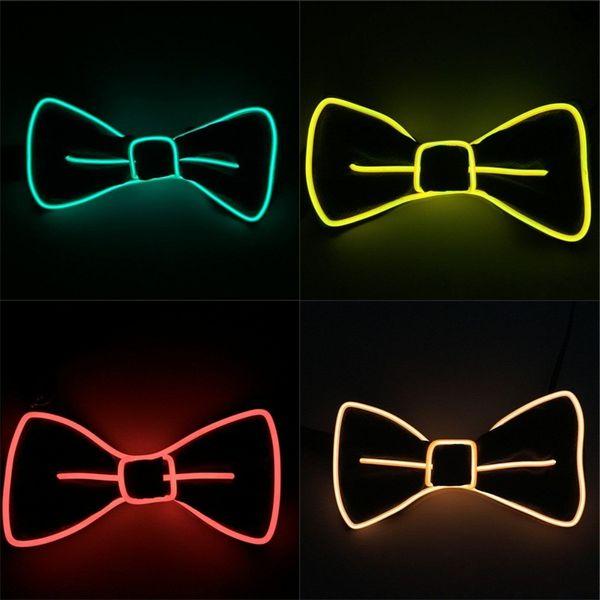 LED Luminous Bow Tie Man Party Ball Cravat Women Perform Ties Creative 10 Colours Fashion High Quality 19xw D1