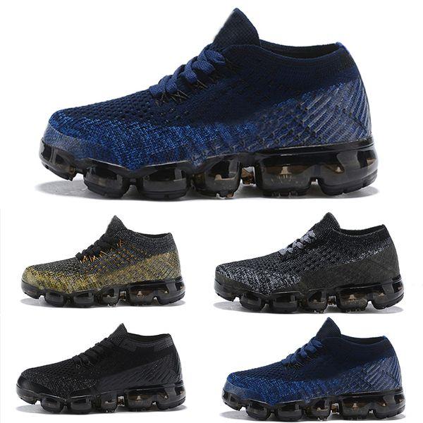 Compre Nike Air Vapormax 2018 De Bebé 2018 Zapatos Para Correr Zapatos Atléticos Para Niños Zapatillas De Deporte De Entrenamiento Para Niña, Negro