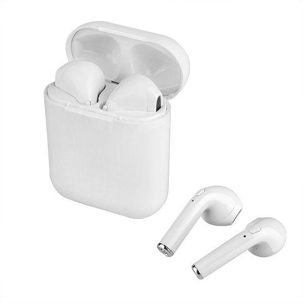 i8x البسيطة TWS بلوتوث اللاسلكية سماعة ستيريو سماعات أذن سماعة مع مايكروفون صندوق الشحن للهاتف لا airpods