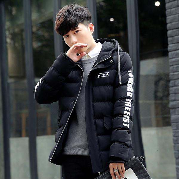 2018 Nuova giacca maschile Parka Uomo Vendita calda di qualità Autunno Inverno Caldo Capispalla Marca Slim Cappotti da uomo Giacche con cappuccio casual Uomo SH190905