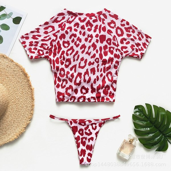 roter Leopard-Druck