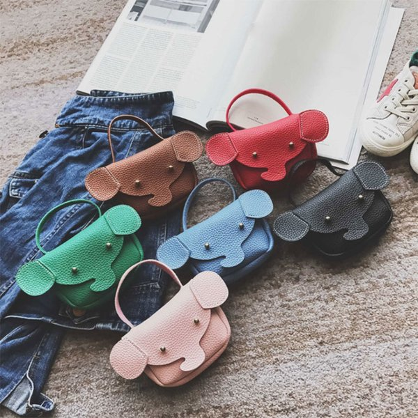 Cheap Individuality Children Girls PU Leather Small Shoulder Bags Elephant Mini Bag Coin Purse Handbag Christmas Gifts Popular FBE3