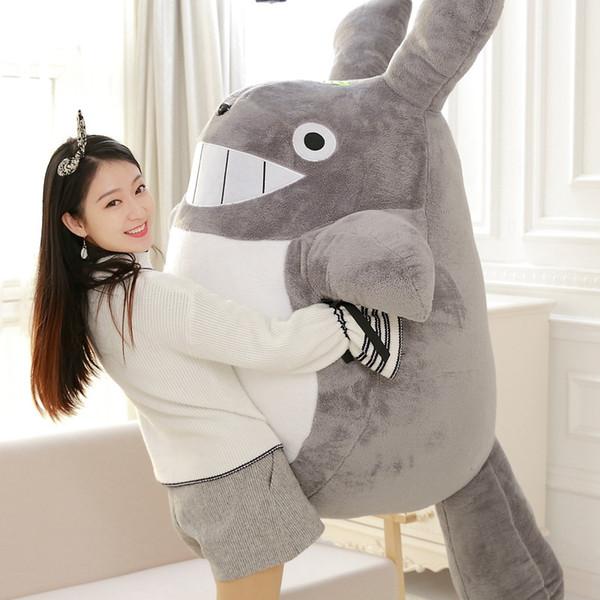 Kawaii Jumbo suave felpa de Totoro juguete animado gigantes Totoro juguetes muñeca de dibujos animados de peluche Almohada para el amigo regalo de los niños DY50595