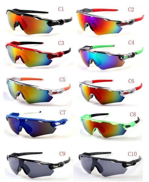 BRAND New Bicycle Glass MÄNNER Sonnenbrillensport zur Spitze Radfahren Sonnenbrillen Sports spectacl Mode blenden Farbspiegel Freies Verschiffen