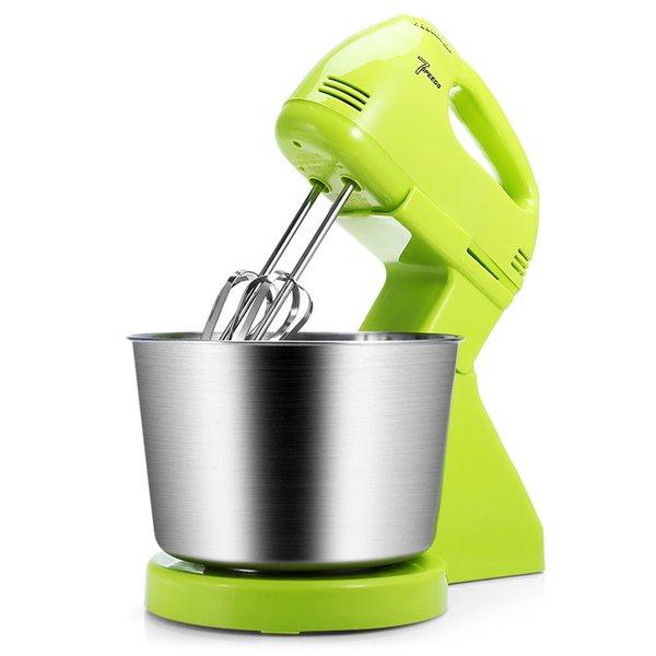 Household 2 In 1 180w 7-Speed Kitchen Electric Stand Hand Mixer Whisk Blender For Bread Egg Dough Mixer Eggs Stand Mixer Kitchen Wholesale