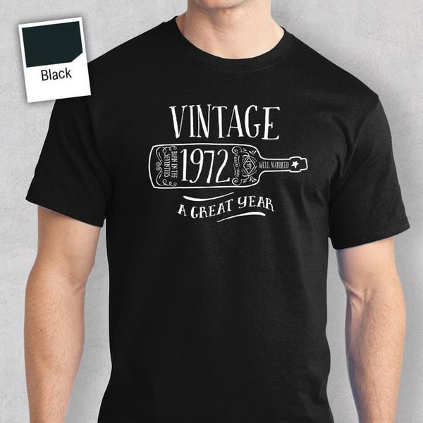 45th подарок на день рождения подарок для мальчиков папа ему мужчины футболка 45 майка 1972 2017 с коротким рукавом хлопковые футболки мужская одежда