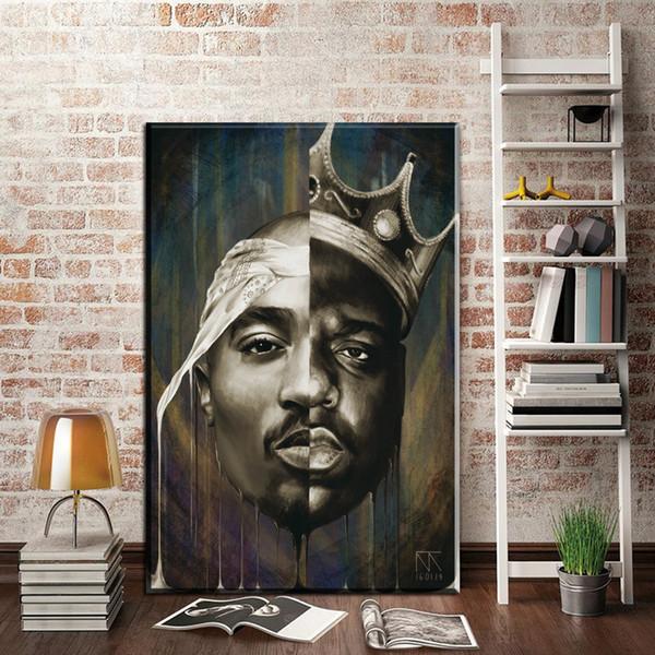 Acheter 1 Pièce Le Notorious Grand Toile Art Affiche Et Affiche Célèbre Rappeur Chanteur Citation Rap Affiche Estampes Wall Art Décor Non Encadré De