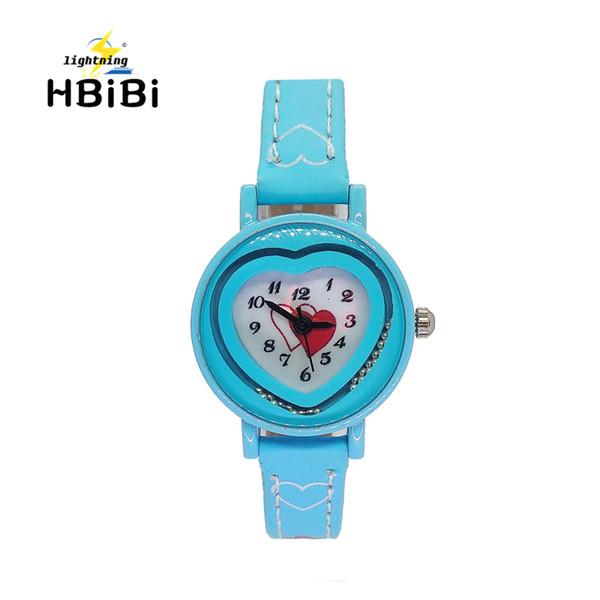 Bonne Qualité Enfants Montre Amour Coeur Femmes Montre Filles Cadeau Enfants Montres Bracelet Horloge Bas Prix En Gros pour 3-16 Ans
