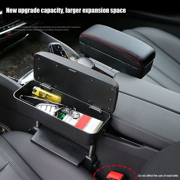 Wireless Charging Center Console Organizer Armrest Storage Box Holder Container Car Armrest Pad V6