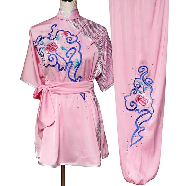 best selling Chinese Traditional Wushu uniform Kungfu clothes Martial arts suit taolu outfit Routine kimono Embroidered for men women boy girl kids