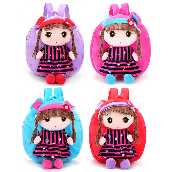 top popular Cartoon Children Plush Doll Backpack Plush Cloth Doll Toy Backpack Compartment Storage Children Fashion Cute Baby Gift 2020
