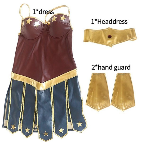 Hot Halloween cosplay femmes Robe moulante Wonder Woman elbise Halloween vêtements pour adultes Stade équipement Bandage Robe
