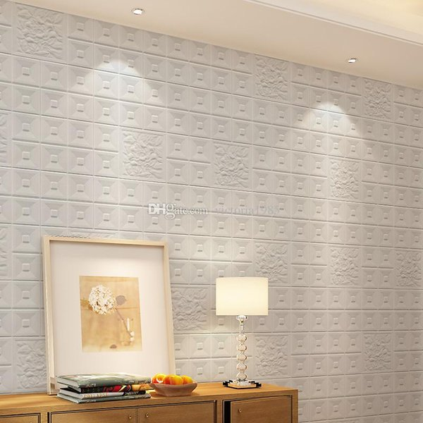 3D Wall Sticker Waterproof odor-free 30X30*0.8cm environmental PE Foam Decor Wallpaper DIY Brick Exhibition home hall DecorativeVC10