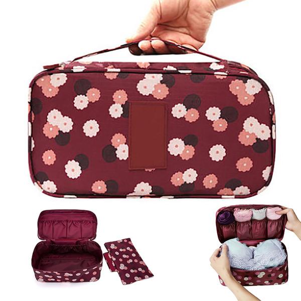 Women's  brush Storage Bag Travel Necessity Accessories Underwear Clothes Bra Organizer Cosmetic  bag Pouch Case #2