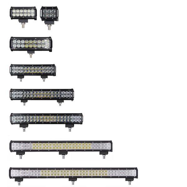 28 inç Jeep Wrangler Otomobil Tekne Araba Kamyon 4x4 SUV ATV OffRoad Sis Lambası Combo Işın White için 180W Çalışma LED Işık Bar