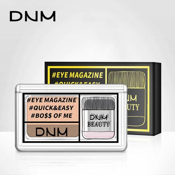 DNM ленивый тени для век двойной цвет слоя макияж палитра водонепроницаемый начинающий мерцание блеск минеральный порошок тени для век косметика